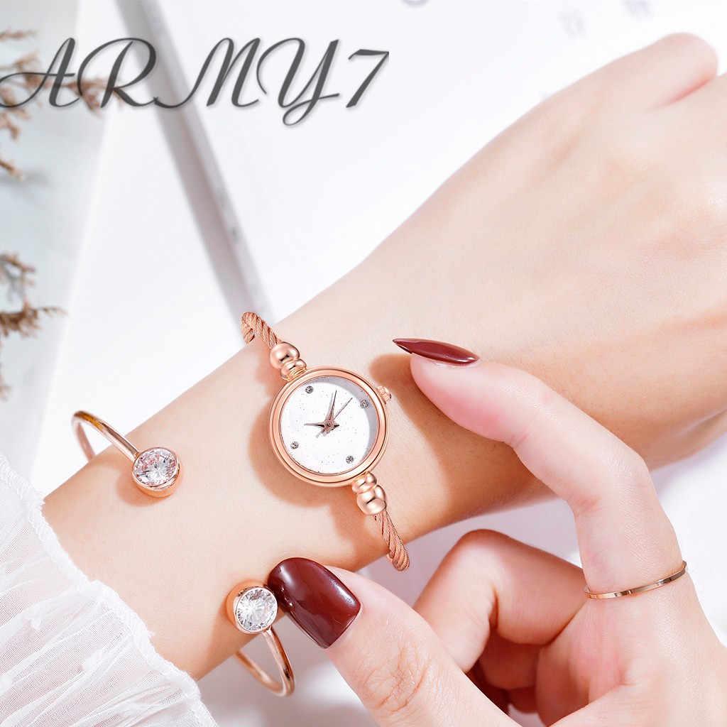 Exquise femmes ciel étoilé strass cristaux Montre Bracelet dames robe en acier inoxydable Quartz Montre-Bracelet horloge cadeaux Montre