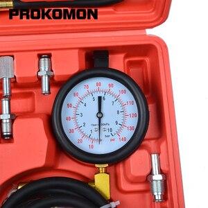 Image 4 - Probador de inyector de Bomba de Inyección de combustible de 0 140 PSI medidor de presión de gasolina