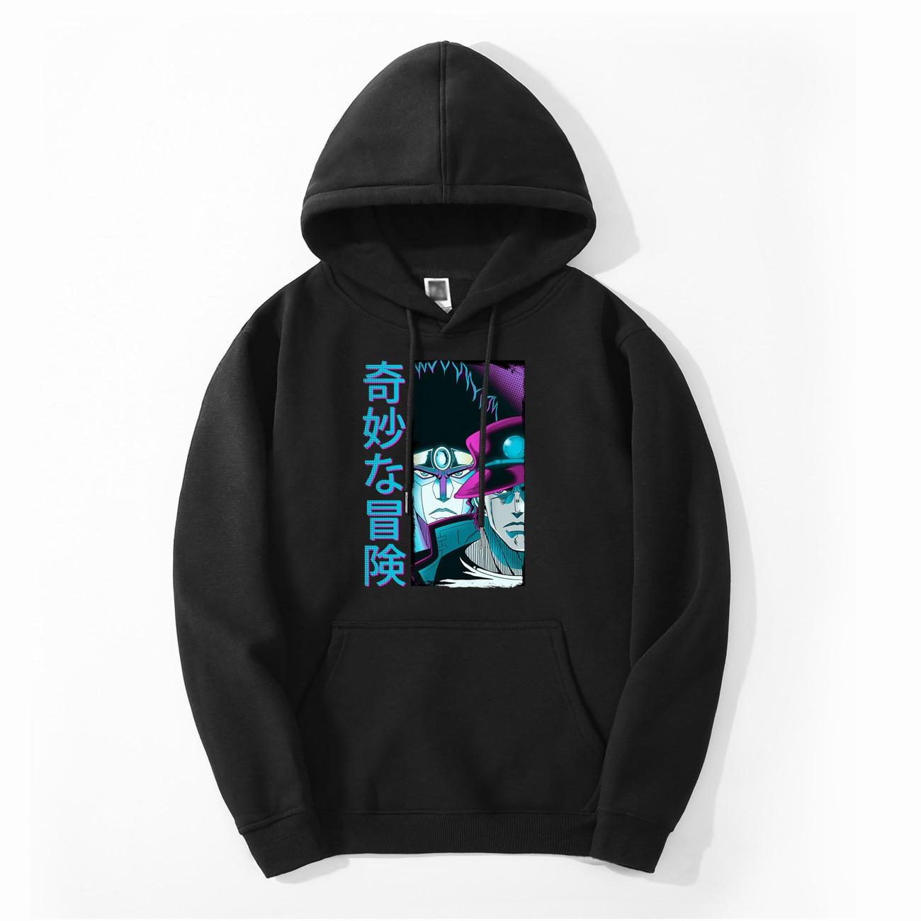 Kujo Jotaro Men JOJO Hoodies Sweatshirt Fleece Autumn Winter Japan Anime Star Platinum Streetwear Jojos Bizarre Adventure Hoodie