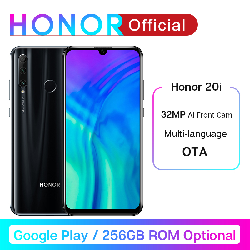 Google Play Honor 20i 20 I Smartphone 20 Lite Kirin 710 Octa Core Front 32MP Rear 24MP Triple Cameras Fingerprint Unlock 3400mA