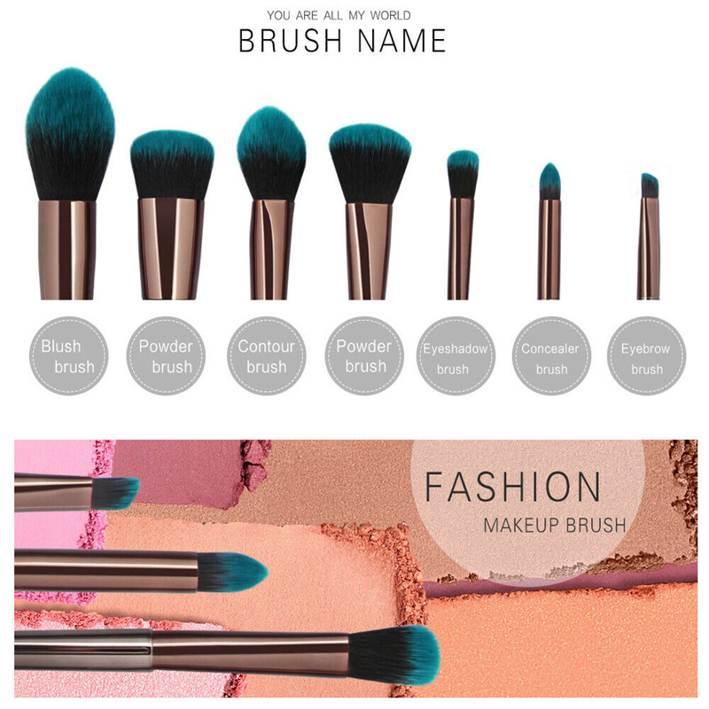 7pcs Make Up Brushes Set Makeup Eyeshadow Brush Set Cosmetic Powder Foundation Complete Face Eye Brushes Gift Set for Women Girl in Eye Shadow Applicator from Beauty Health
