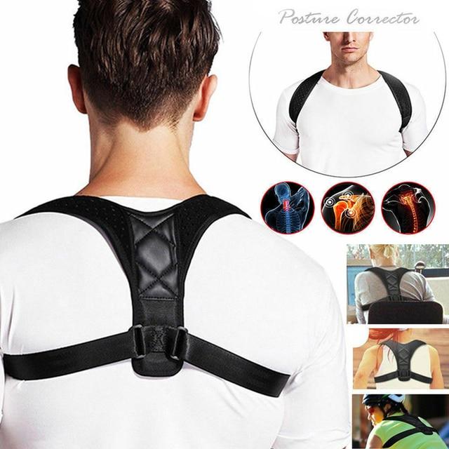 20 개/몫 중괄호 지원 벨트 조정 가능한 다시 자세 교정기 쇄골 척추 다시 어깨 허리 자세 Blet 교정