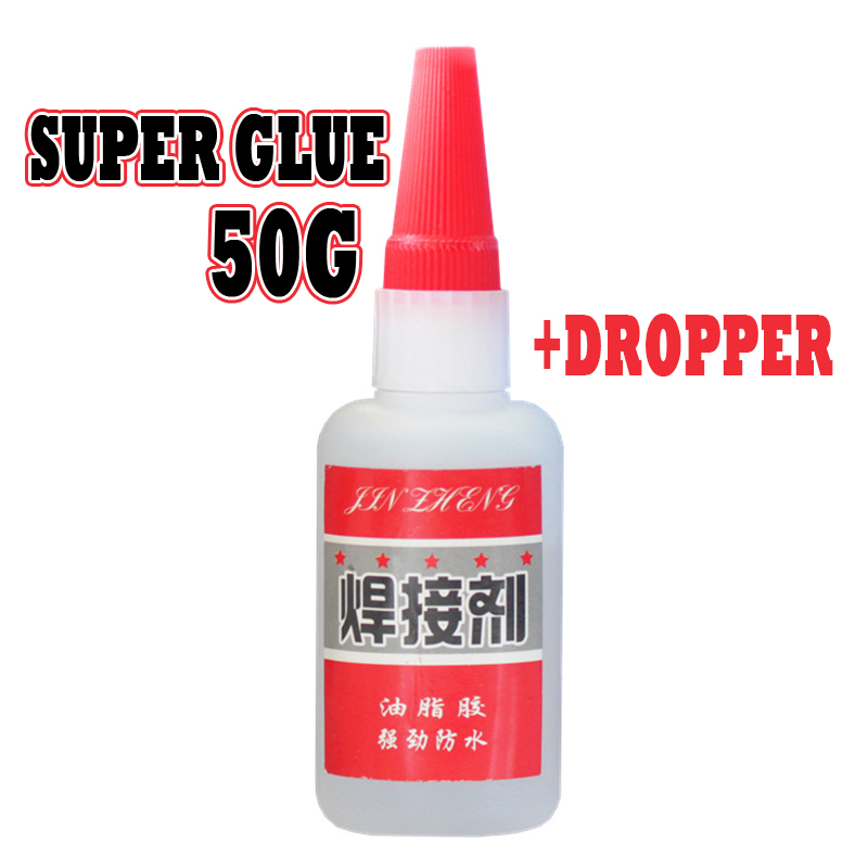 Super Glue Oily Welding Agent Oil Glue Sticky Shoes Metal Wood Ceramic Handmade DIY Grease Glue 50ml Acrylate Adhesive 500 0.1h
