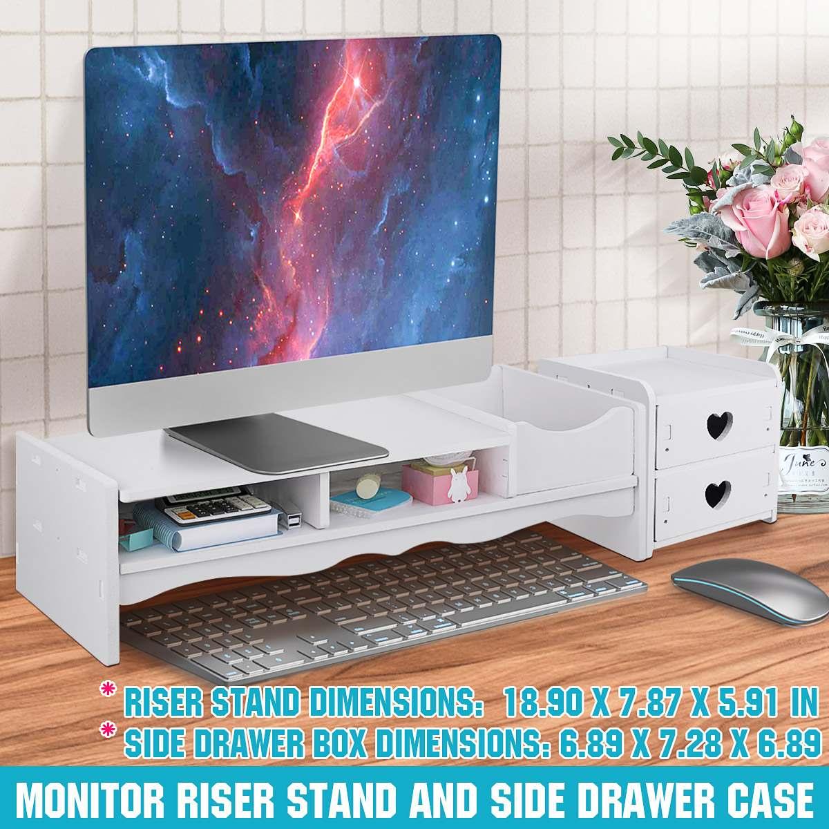 Computer Monitor Riser Laptop Stand Desktop Holder Monitor Holder Screen Shelf Lapdesk Multifunction Table Storage Organizer