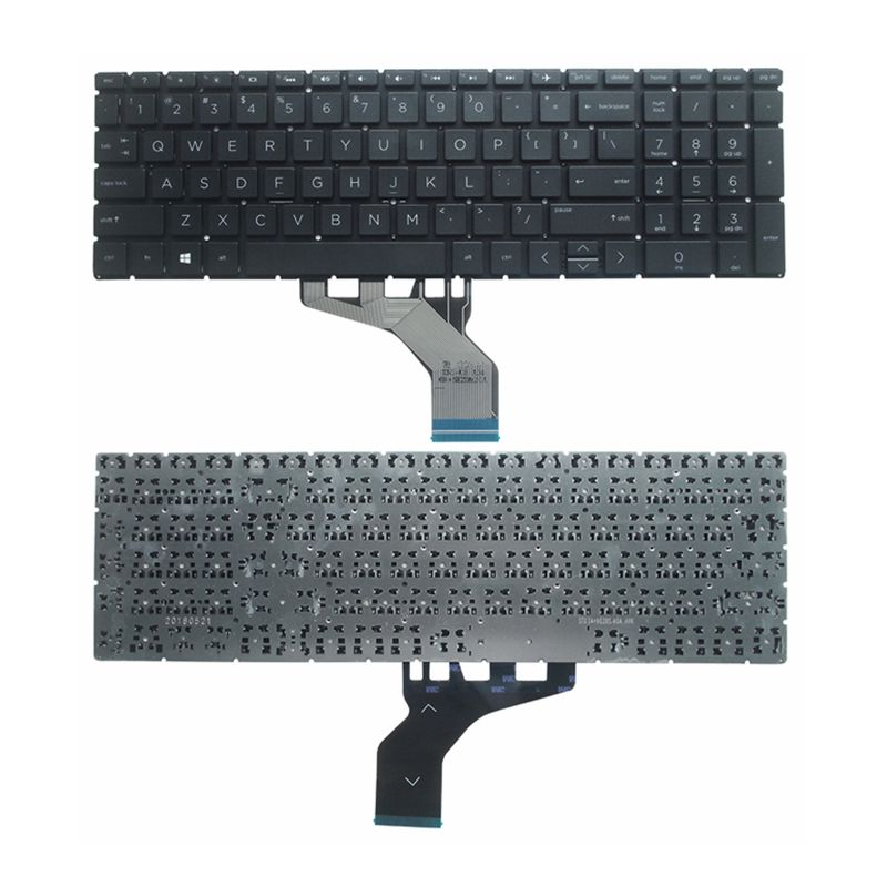 GZEELE New US English Keyboard FOR HP 15-DA 15-DB 15-DX 15-DR 250 G7 255 G7 Black