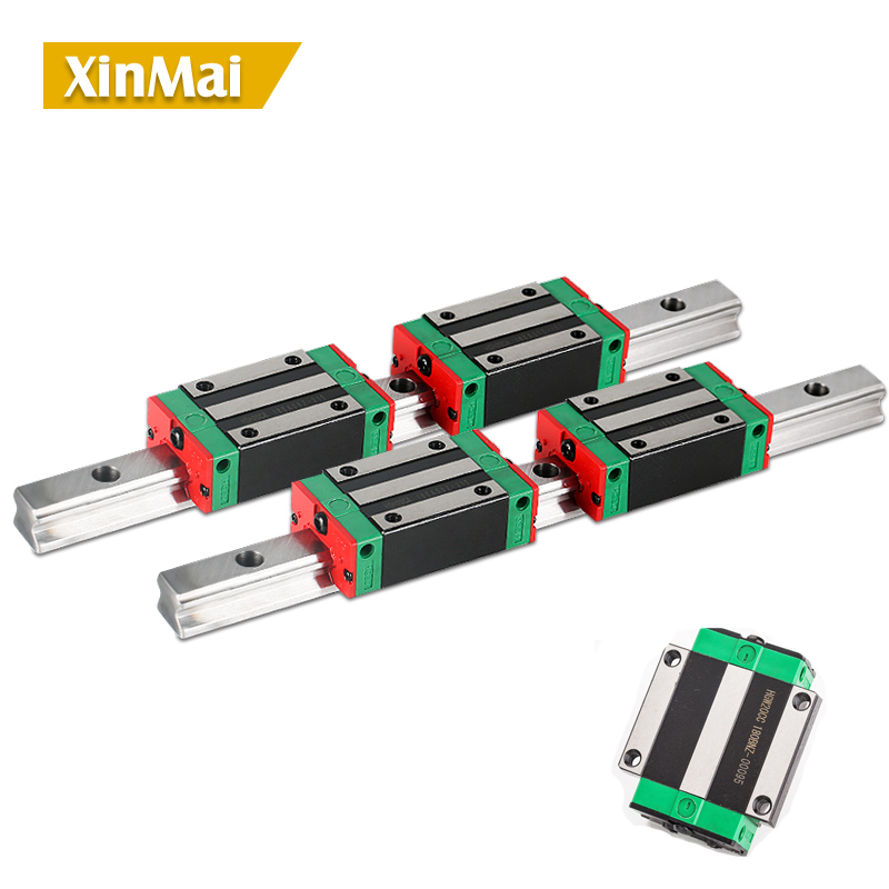 HGR35 2PCS linear guide rail 200- 2600 long with 4 pcs of linear block carriage HGH35CA hgh35 CNC parts