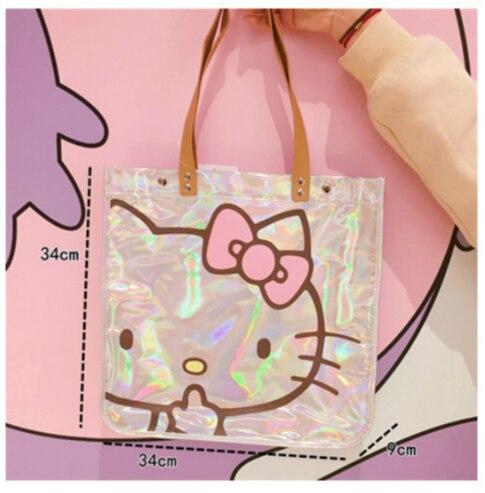 Femmes sac à main Kitty chat éblouissement Laser épaule sac à main imperméable à l'eau grands sacs de créateurs femmes en cuir PU sacs à main et sacs à main de mode - 6