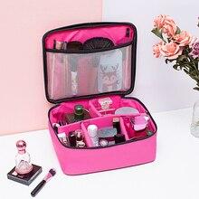 Cosmetics Case Portable Organizer Storage Large Capacity Oxford Cloth Waterproof Tote Makeu