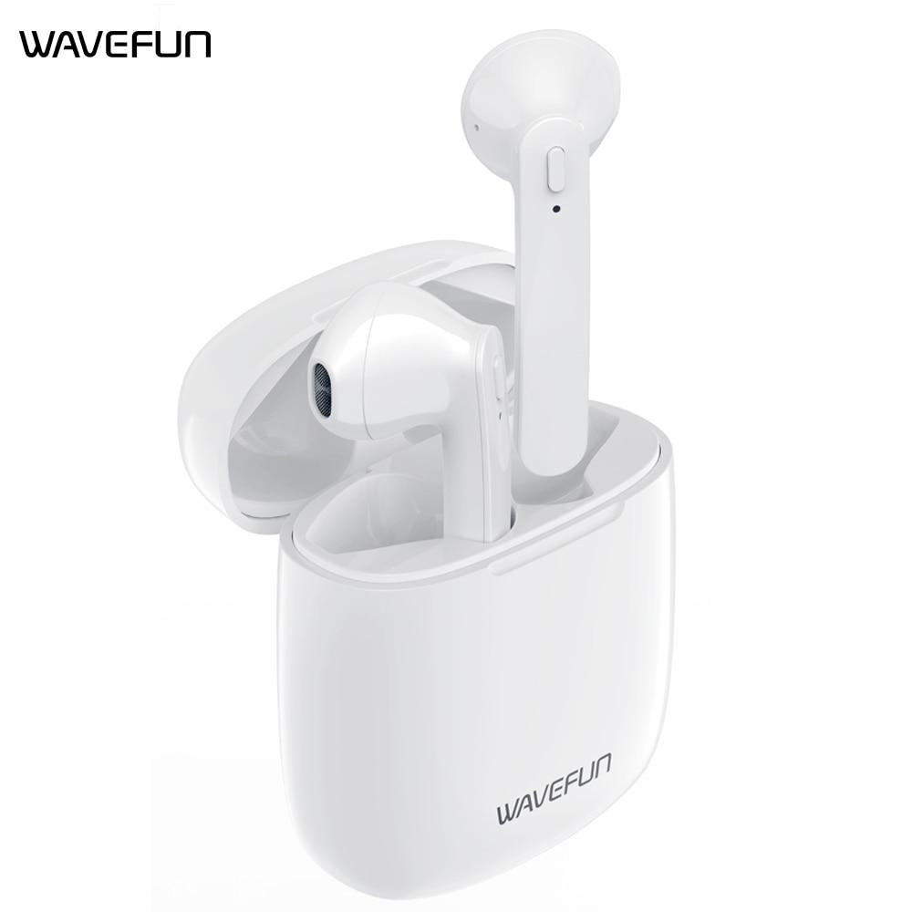 Wavefun Bluetooth наушники Bluetooth 5,0 наушники Airoha 1536U Беспроводной наушники IPX5 Водонепроницаемый гарнитура наушники-вкладыши с микрофоном
