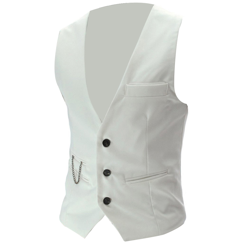 H81469c02b7b2470ab3b130a4798f4c797 - 2020 New Arrival Casual Sleeveless Formal Business Jacket Dress Vests For Men Slim Fits Mens Suit Vest Male Waistcoat Homme
