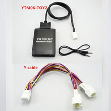 Yatour Auto Musik Audio Mp3 Player für Toyota Lexus Scion 2003-2013 Mit Navigation Y kabel USB SD Adapter 6 + 6pin Avensis Corolla
