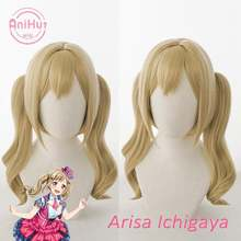 [anihut】ichigaya arisa wig bang dream! poppin'party косплей