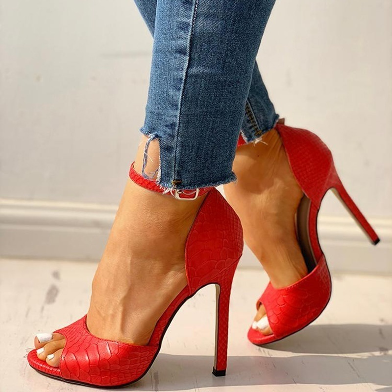 New shoes woman High Heels Pumps Sandals Fashion Summer Sexy Ladies Increased Stiletto Super Peep Toe shoes 3
