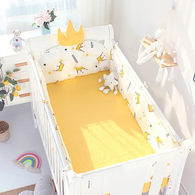 5pcs Nordic Crown Cushion Cot, Crown Baby Crib Bedding