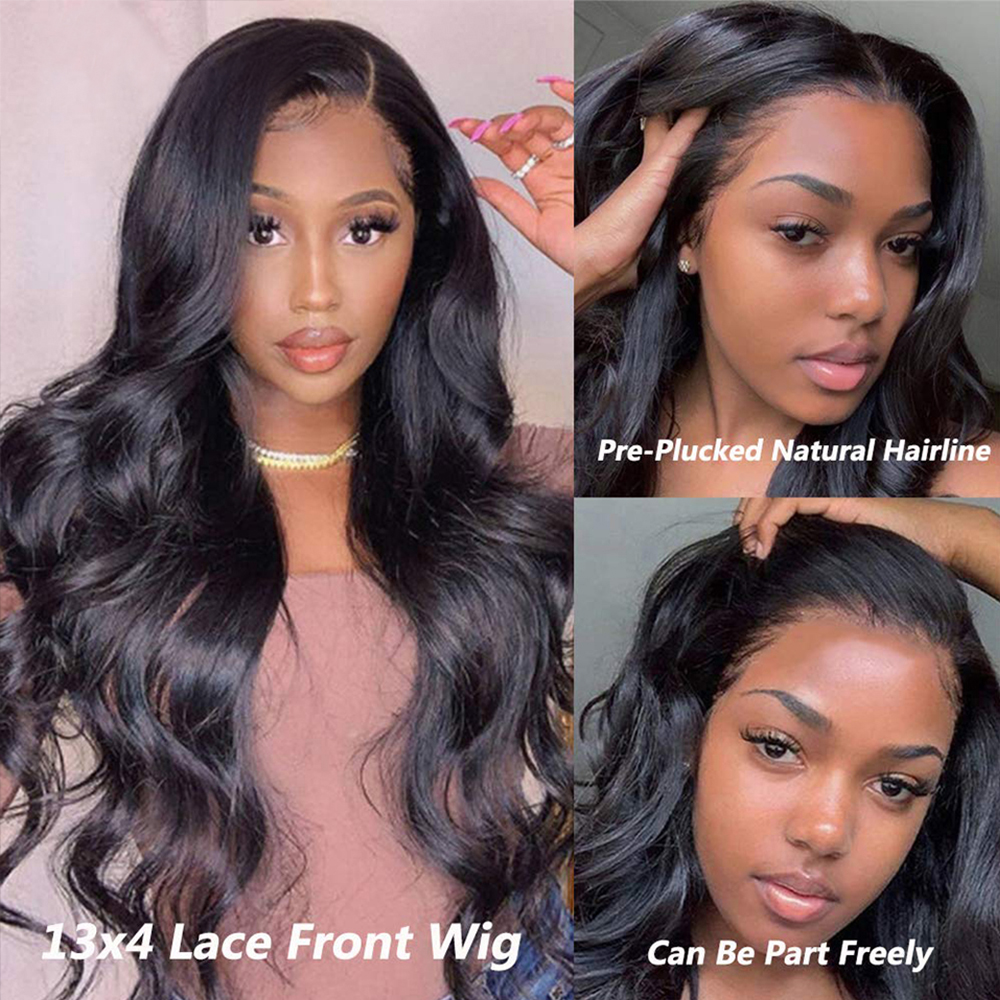 Body Wave Lace Front Wig Hd Transparent Lace Frontal Wigs    30 Inch Wet And Wavy Lace Front Wig 6