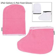 1 çift eldiven + 1 çift ayak eldiven parafin balmumu koruma SPA el ayak eldiven isıtıcı isıtıcı