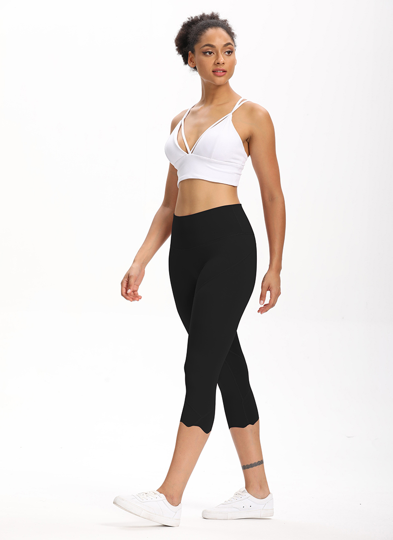 H8146db64fafa4d4c897ba7863b444feeS Cardism High Waist Sport Pants Women Yoga Sports Gym Sexy Leggings For Fitness Joggers Push Up Women Calf Length Pants Wave