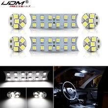 Xenon branco 44-smd 6 peças de veículo, equipamento de luz de led completo para bmw 1 3 5 7 séries, e87 e82 e90 e92
