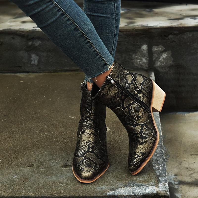 2019 primavera/outono moda botas de vaqueira sapatos femininos inverno ocidental cowboy ankle boots apontou toe sapatos de couro mulher botas