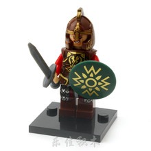 Theoden the King The Lord of the Rings Hobbit Rohan Grima Aragorn Boromir minifig DIY Building Blocks Kids Xmas Toy(China)