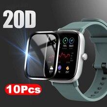 Film de protection souple à couverture complète 20D, 10 pièces, pour Amazfit GTS / GTS 2 / GTS 2 Mini montre intelligente, pas du verre