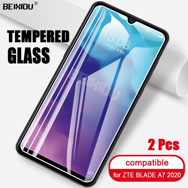 2 PCS Full Tempered Glass For ZTE BLADE A7 2020 Screen Protector 2.5D 9h Tempered Glass For ZTE BLADE A7 2020 Protective Film