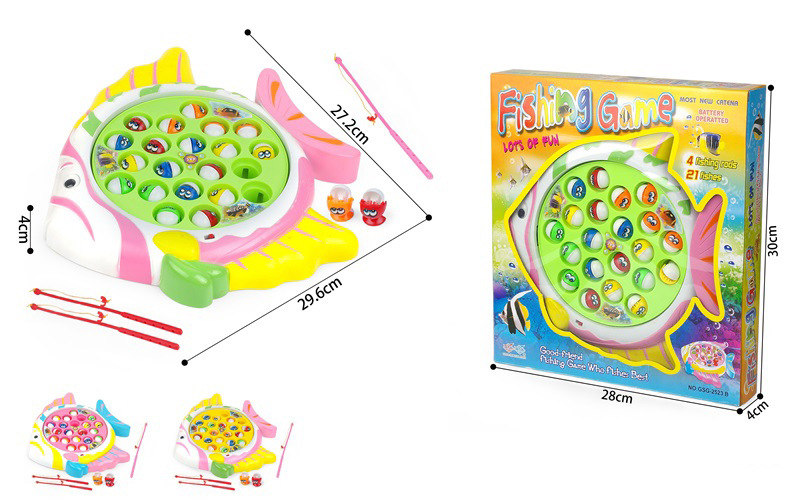 Mini Children Joy Electric Music Fishing Plate Toy Baby Educational Early Childhood Parent And Child Fishing Game Toy