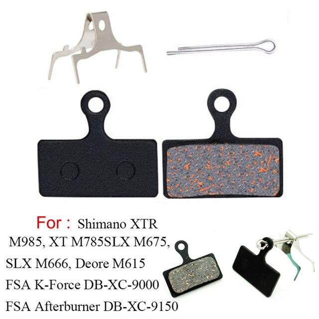 4 paires de vélos de montagne plaquettes de frein à disque de vélo pour Shimano M988 M985 XT/TR M785/ SLX M666 M675/ Deore M615/ Alfine S700