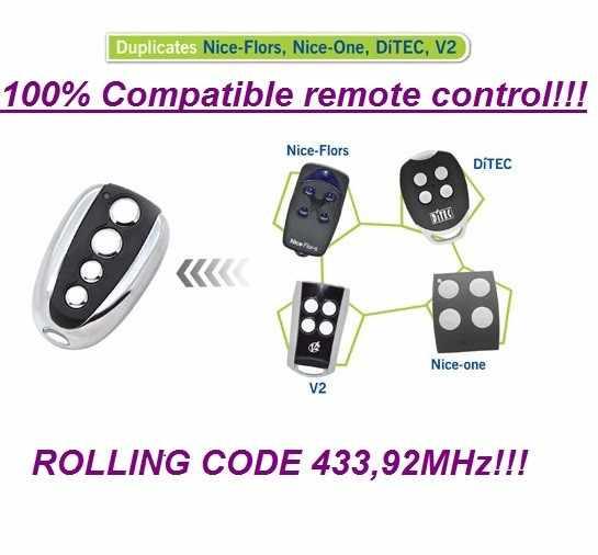 KSTE Clon V2 PHOENIX phox TSC4 TRC 433MHz HANDY control remoto puertas de garaje TXC