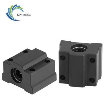 2 uds SCS8UU POM 8mm Cojinete de bolas de movimiento lineal casquillo corredizo eje lineal para CNC para impresora 3D