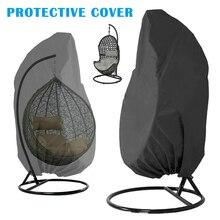 Открытый патио подвесной стул крышка тяжелых яйцо качели чехлы для стульев Пылезащитный Чехол Открытый сад K888