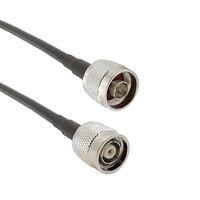 N macho para rp tnc macho coaxial rg58 rf cabo RP TNC macho para datilografar n fio coaxial masculino para wifi roteador 1/2/5/8/10/12/15 m|Conectores| |  -
