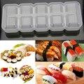 DIY Sushi Form 5 Rollen Food Grade Kunststoff Nigiri Sushi Maker Reis Ball Formen Nicht Stick Presse Bento Sushi Kit küche Bento Werkzeug