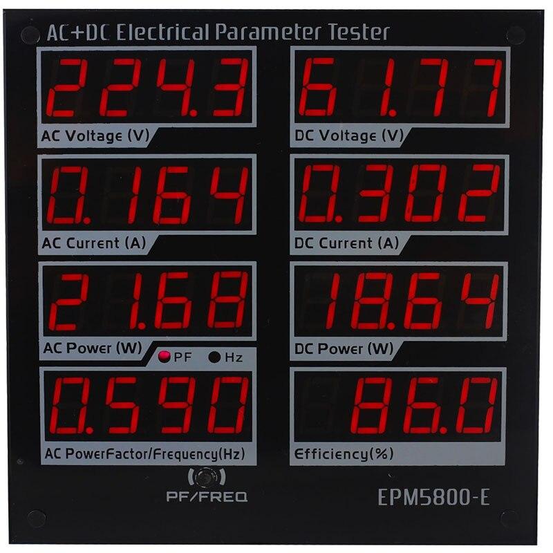 ZHURUI EPM5800-E AC/DC power meter/ watt meter/Elektrische paremeters tester/ test Netzteil/Fahrer/effizienz/ac /DC300v/10A