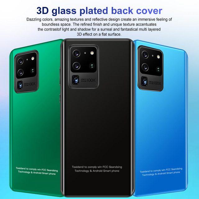 2021 7.2 Polegada 4g 5g ultra telefones celulares galay s30 pro 5000mah android 10.0 12gb 512gb duplo sim tela de toque caracterizado telefone inteligente 4