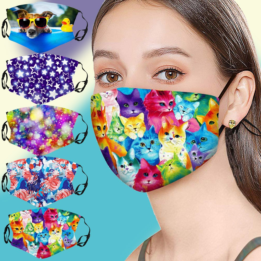 Cotton Breathable Mask Reusable Face Mask for Adult Respirator Washable Mouth Cover Protective Cloth