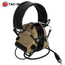 TAC-SKY COMTAC II silicone earmuffs hearing defense noise reduction pickup military tactical headset DE