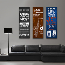 Musical Instruments Poster Guitar  Saxophone Jazz Modern Pictures Industrial Canvas Painting for Living Room Office Decor