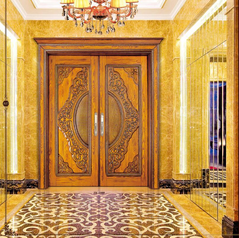 2020 Hot Sale Top Quality Entry Solid Wood Door Enterior Wooden Door Entrance Doors