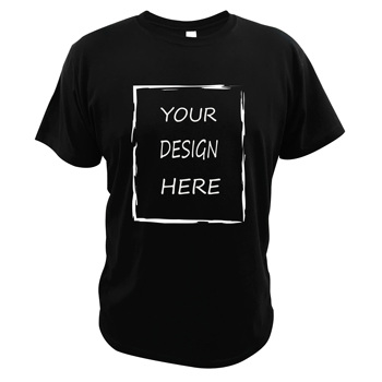 Customized Your Design T Shirt Print Photo You Like And Logo EU Size 100% Cotton Tee Digial Print Technology Casual Tshirt