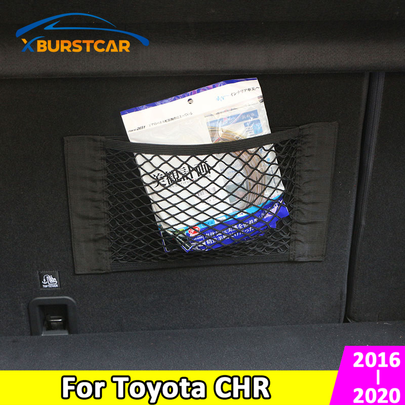 Xburstcar for Toyota C-HR CHR 2016 2017 2018 2019 2020 Car Interior Nets Auto Trunk Back Elastic Mesh Net Storage Bag Accessorie image