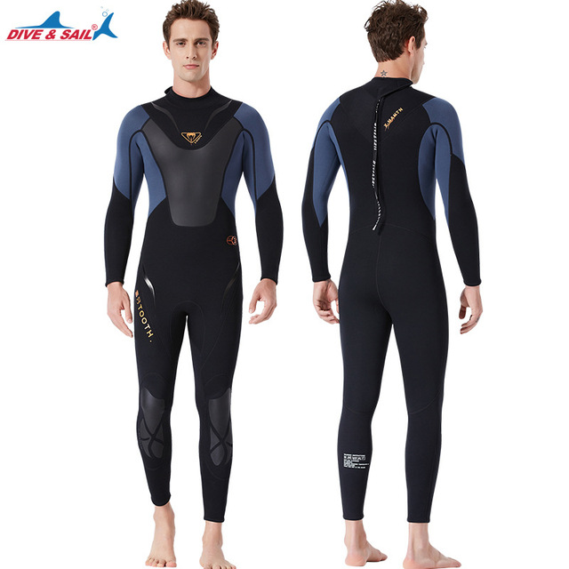 Full-body Men 3mm Neoprene Wetsuit Surfing Swimming Diving Suit Triathlon Wet Suit for Cold Water Scuba Snorkeling Spearfishing
