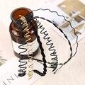 Модная черная металлическая волнистая Стильная Спортивная повязка для волос Alice однотонная мужская женская унисекс повязка для волос 1 шт. ...