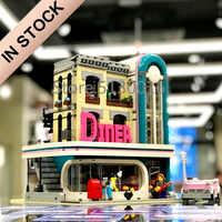 10260 IN STOCK Creator Street Downtown Diners 15037 2480Pcs Street View Model Building Blocks Bricks Kids Education Toys