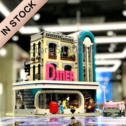 10260 IN VOORRAAD Schepper Straat Downtown Diners 15037 2480Pcs Street View Model Bouwstenen Bakstenen Kinderen Onderwijs Speelgoed