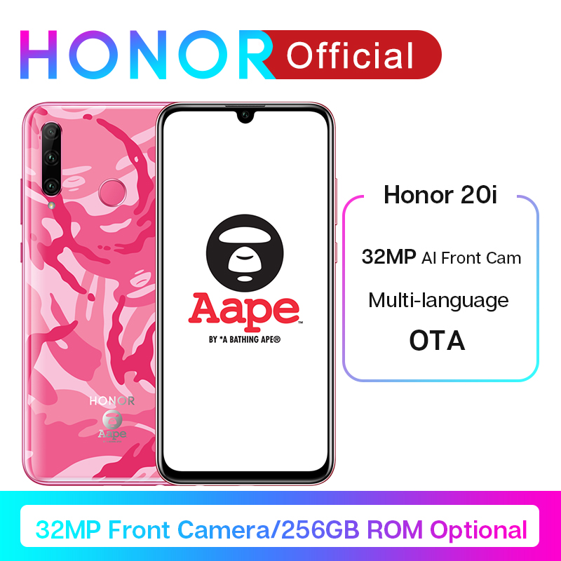 Honor 20i Honor 20 Lite Smartphone 6.21'' 32MP AI Front Camera Face Fingerprint Unlock Mobile Phone Android 9.0