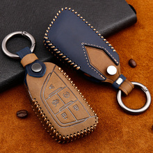 Leather Remote Car Key Fob Cover Case Holder For Cadillac CT5 CT4 New 5 Buttons  key cover car styling xinyuexin silicone car key cover fob case for toyota altezza wish carina one button on side remote key car styling