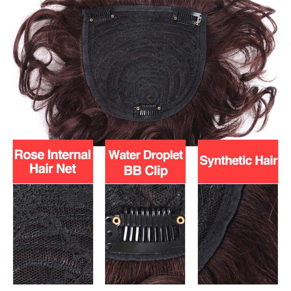 peruca fina pele natural topper festa hairpiece
