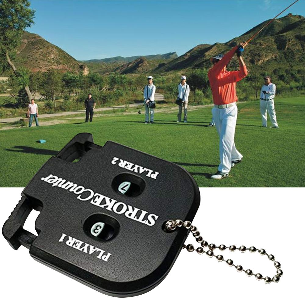 New Double-Sided Score Counter for Golf Racing, Putt Score Counter without Keychain, Black Golf Training Tool