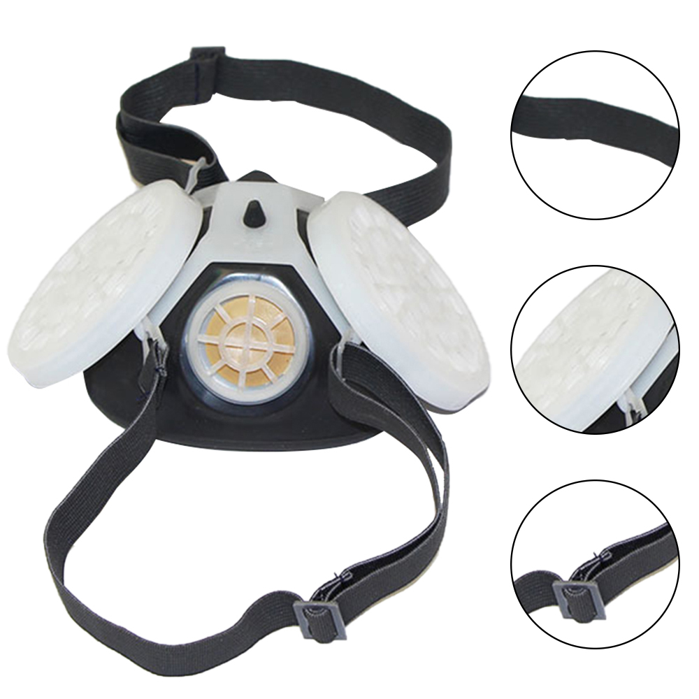 Dust Mask Respirator Anti-dust Anti Pollen Haze Poison Gas Breathing Mask Labor Supplies Work Outdoor Family Protective Mask